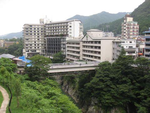 鬼怒川温泉と黒鉄橋