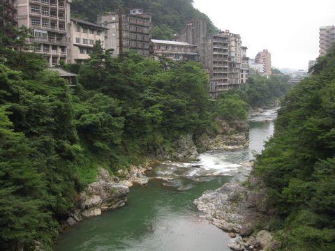 滝見橋から鬼怒川下流を望む