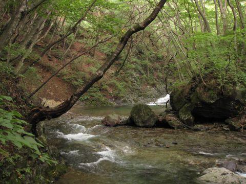 野沢の旧道架橋地点