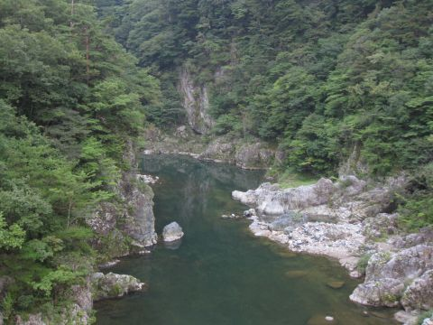 鬼怒川・浜子橋より望む