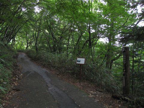 龍王峡遊歩道 渓流散策コース入口