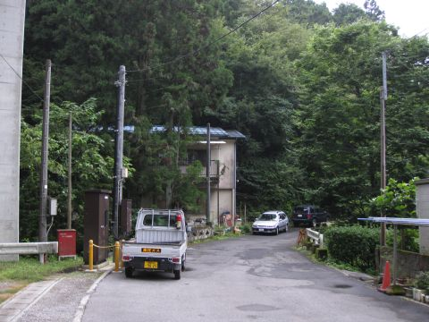 下小網の旧道 汲戸沢付近