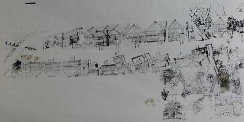 旧五十里宿絵図