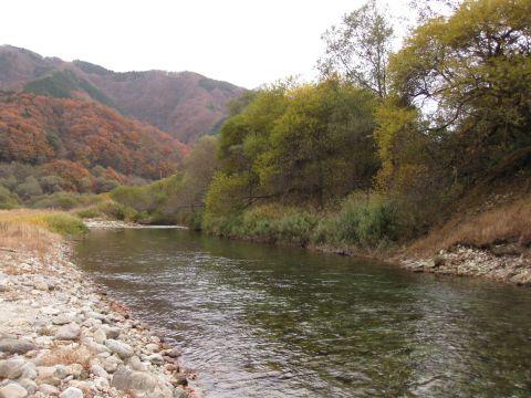五十里宿跡付近の男鹿川
