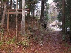 白倉沢付近旧道らしき道跡