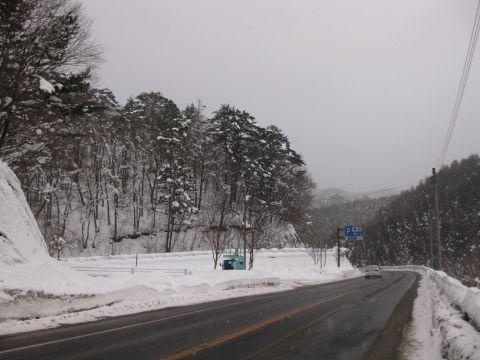 国道121号 栃木県側の山王峠旧国道入口