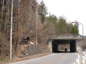 国道121号 横川の洞門