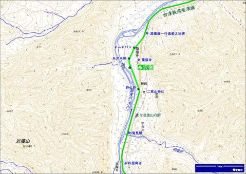 会津西街道 糸沢宿