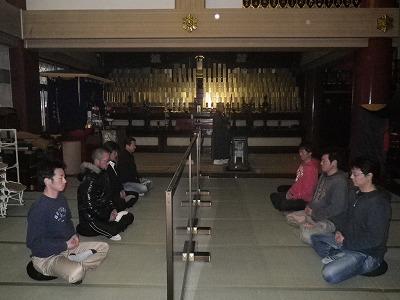 立山寺座禅