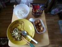 091018の朝食 たこ焼きカレー定食