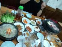 参鶏湯、サム…三枚肉