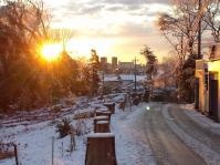 ある雪上がりの朝