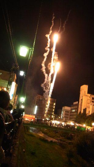 神道祭りの花火