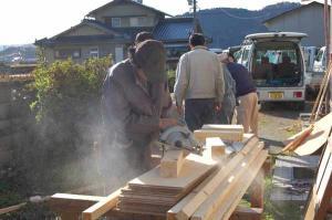 久米地区工業部ボランティア 平成20年11月30日