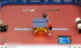 世界卓球2011 何志文VSマテネ