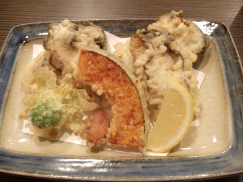 牡蠣と野菜の天ぷら