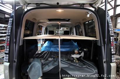 ステップワゴン de 車中泊!オリジナル2段ベッド製作