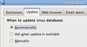 avant Ubuntu ウイルススキャン 自動更新