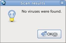 avast Ubuntu ウイルススキャン スキャン結果