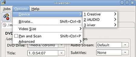 Ubuntu iriverter 動画ファイル変換 サイズ