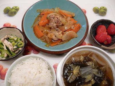 鶏肉と野菜の香草煮込み