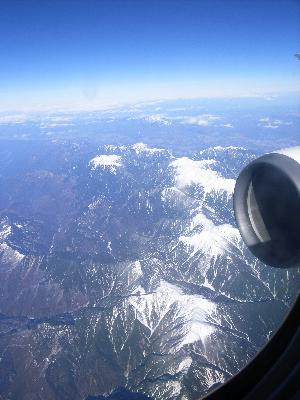 空から山を見下ろす1