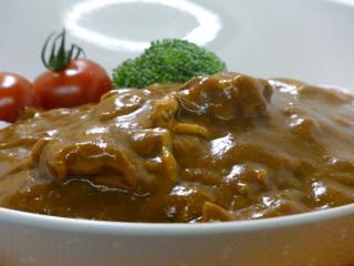 比内地鶏カレー-盛り付け