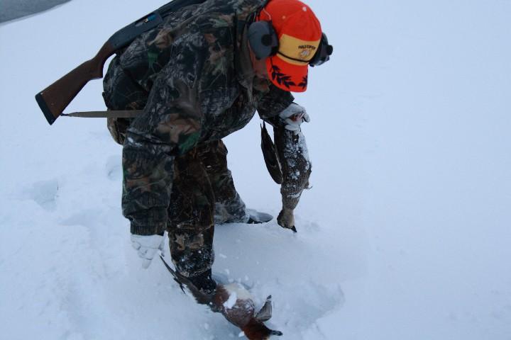雪に刺さるのですぐ見つかるw
