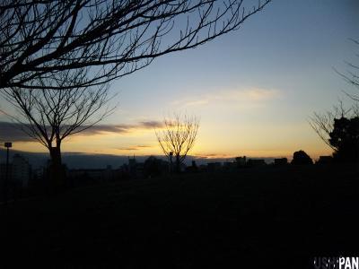 西郷山公園の夕暮れ1