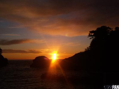 山と海と夕日4