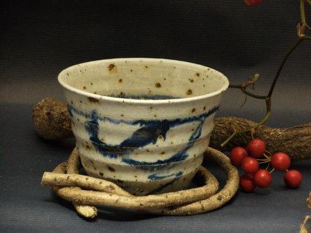 信楽焼青フリーカップ