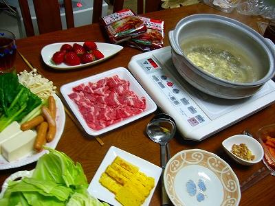 豚肉と野菜の鍋