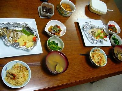 ホイル焼き&ホタテご飯
