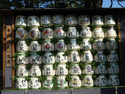 平安神宮の酒樽