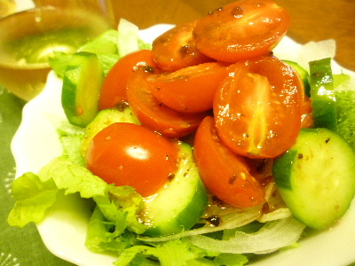 アメーラトマト&わさび菜