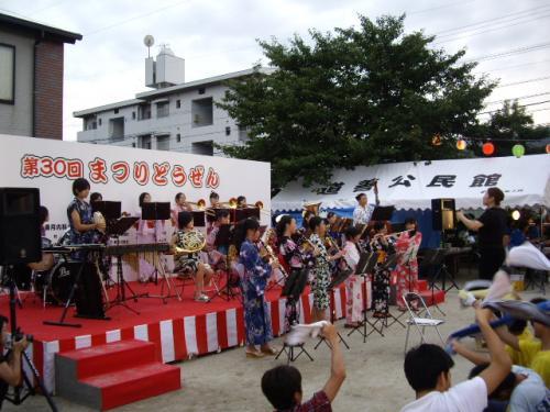 道善祭り(那珂川中ブラス部)