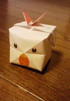 プリント折り紙 ニワトリ