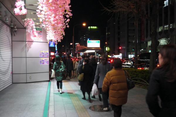 冬の花見 JR浅草橋付近 18:54