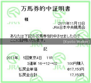 11.13. 武蔵野S
