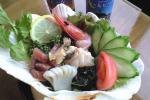 海鮮サラダ、新鮮!!