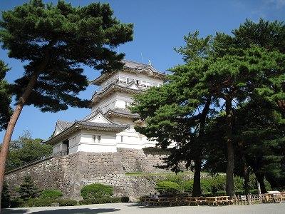 象舎側からみえるお城