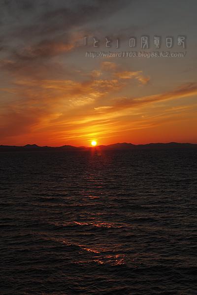 むつ湾夕日12