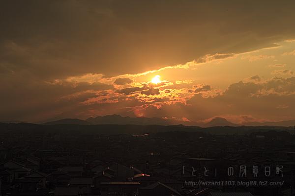 U市の夕日