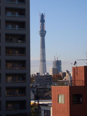 「東京スカイツリー」亀戸九丁目遠望之図