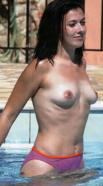 Kym Marsh Topless Pool Candids