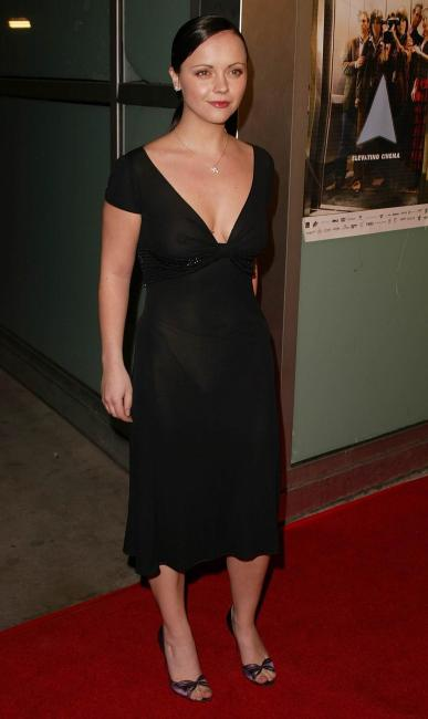 Christina Ricci - See-Thru Black Dress b01s