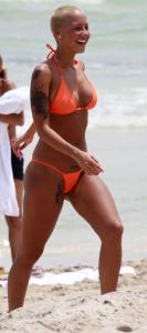 Amber Rose (Kanyes Girl) THONG Bikini Pics From Miami h02