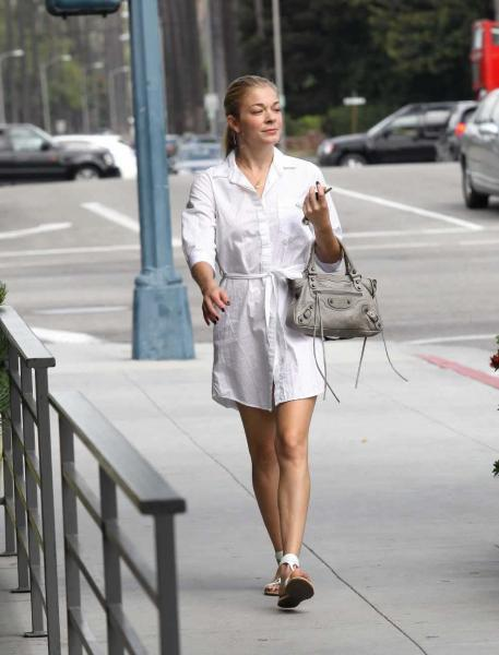 Leann Rimes - Leggy leaving salon in Beverly Hills