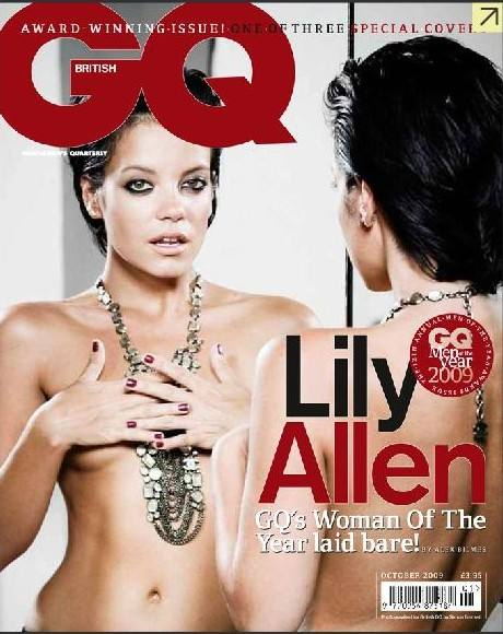 Lily Allen Topless in October Issue of GQ Magazine v03