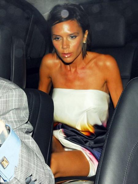 Victoria Beckham upskirt @Mayfair Hotel London Sept 21st 2009